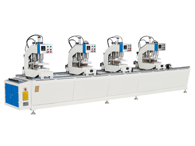 Four-head seamless welding machine for PVC color door and window